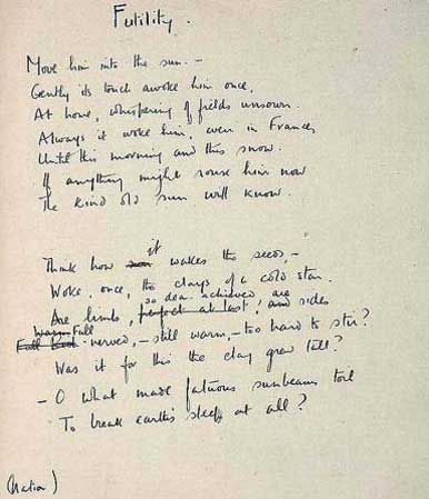 inspection by wilfred owen essay Blood, sacrifice, guilt are at the heart of inspection owen wrote it in august/ september 1917 at craiglockhart and later listed it under inhumanity in war.